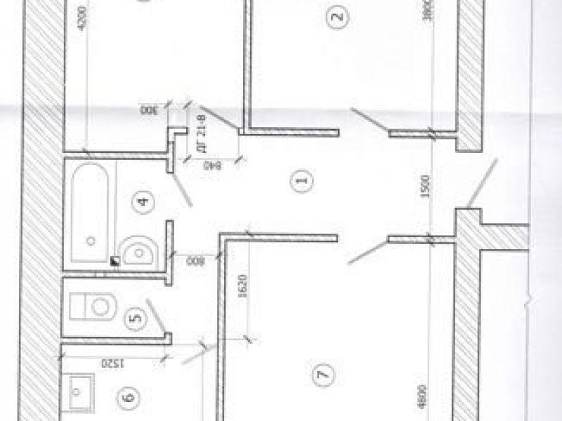 трёхкомнатная квартира на улице Маяковского дом 21 город Саров
