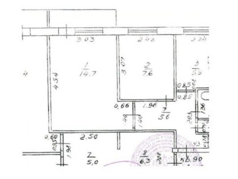 двухкомнатная квартира на проспекте Кораблестроителей дом 44