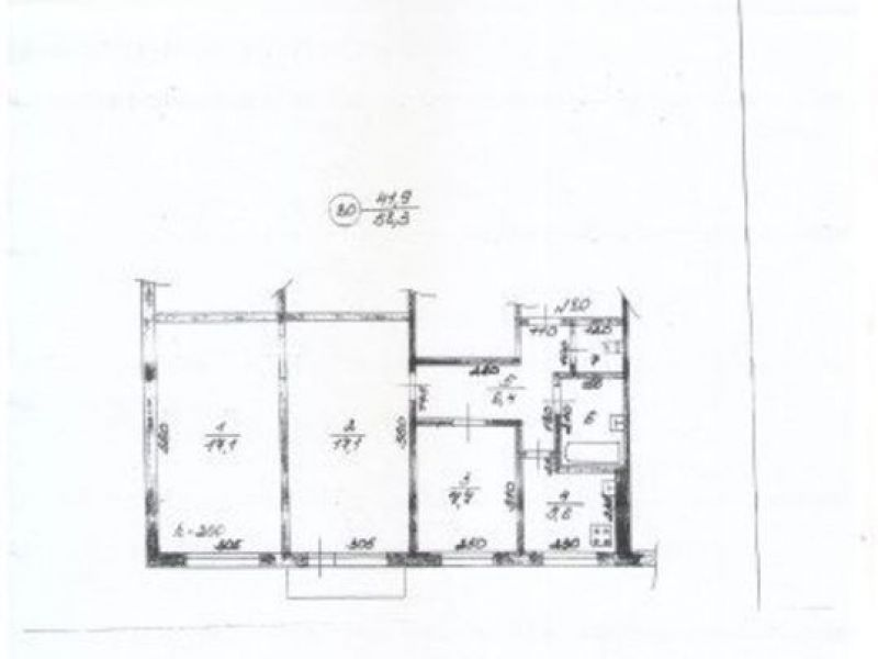 трёхкомнатная квартира в микрорайоне Юбилейный дом 1А город Выкса