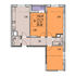 трёхкомнатная квартира на жилой дом №1 (по генплану) по улице Профинтерна